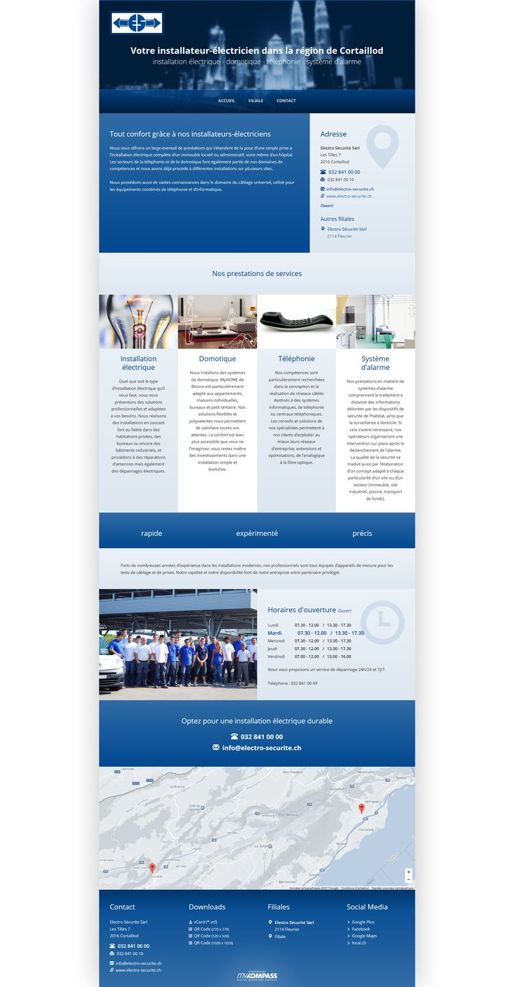 Electro Sécurité Sàrl - Cortaillod - Votre installateur-électricien dans la région de Cortaillod - installation électrique - domotique - téléphonie - système d'alarme
