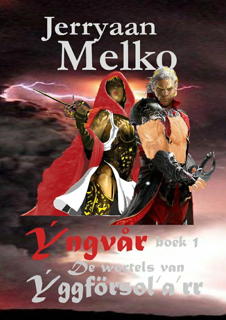 Het allernieuwste boek dat binnenkort bij de uitgever uitgeleverd moet gaan worden.  'De strijder Ýngvår denkt de levensboom gevonden te hebben waar alle Goden wonen en alle tussenwerelden. Hij valt in een gat tussen de wortels in een lange tunnel, verliest zijn bewustzijn  en wordt wakker in een andere wereld. Google op Jerryaan Melko en lees vast enkele gedeelten.