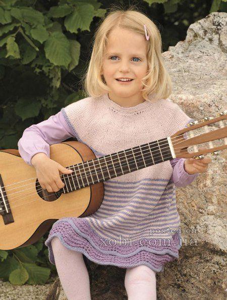 детское платье с двойной волнистой каймой
