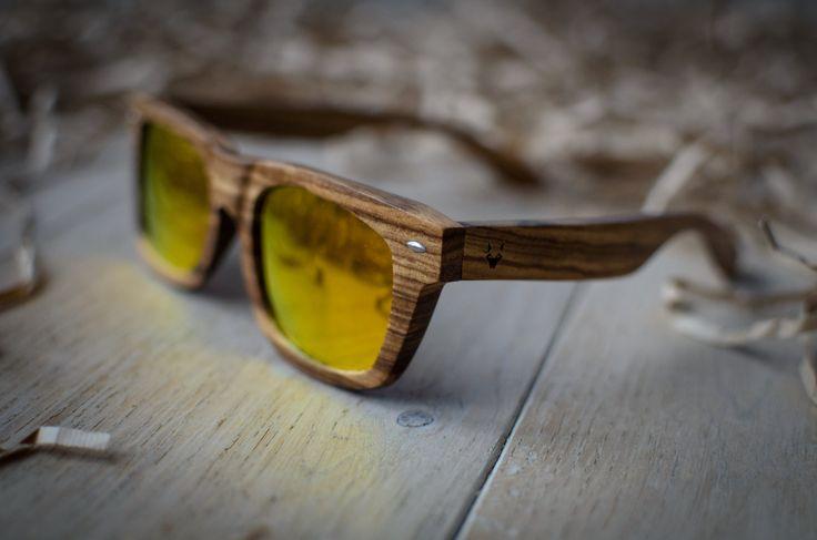zebra wood sunglasses with yellow lenses polarized sunglasses wooden sunglasses bamboo sunglasses handcraftedcitywolf handmade (60.00 EUR) by CityWolfLT