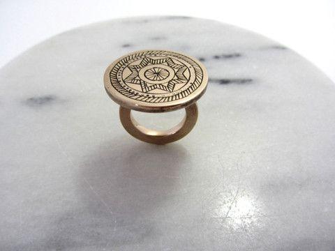 Circle & Pattern Ring
