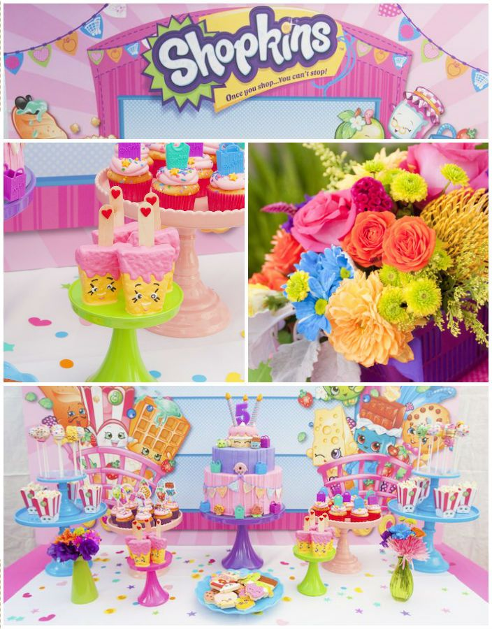 Shopkins Decoration For Birthday Invitation Cards With Foam