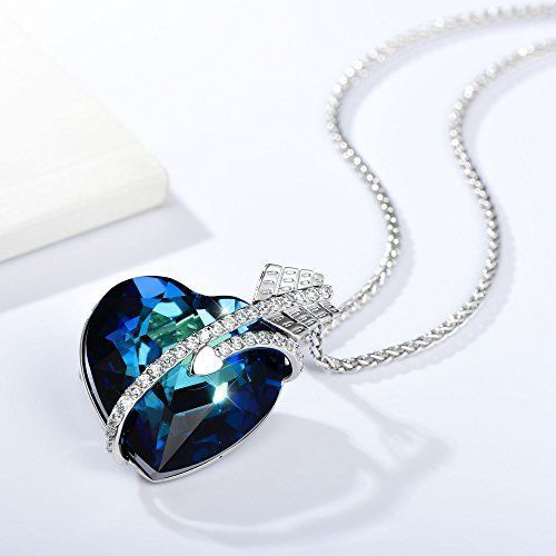 Mothers Day Gifts Gift For Mother Mom Necklace Pendant Ocean Blue Heart NEW #Kbrand