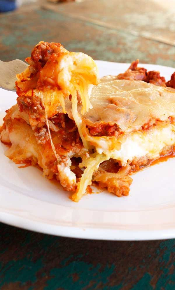 This Spaghetti Squash Lasagna with Turkey Meat Sauce will be your new favorite healthy dinner recipe for fall. You definitely don't miss the noodles in this one! Have you ever imagined what life would be like without cheese? It's probably one of the most unpleasant thoughts ever. I mean, all the best foods have cheese. Without...