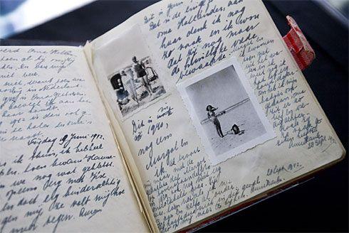 ....inside the cover di Anna Frank.