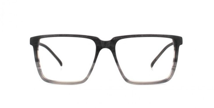 70'S BOY I Large square shape reminiscent of the 70´s. The thin cut of the acetate keeps the look light and elegant.  Black gradient.