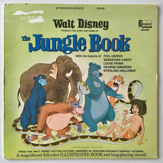 acde51a0c The Jungle Book LP Vinyl Record Album, Disneyland - 3948, Pop, Childrens,  Story, 1967 | Products in 2019 | Disney presents, Books, Disney