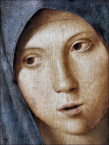 Antonello da Messina, Vergine annunciata, 1473-74, particolare, Alte Pinakothek, Monaco.