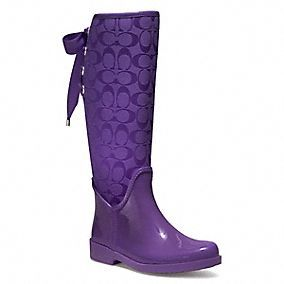 $128.00 I think I will be getting these puppies for my Birthday....Purple Rain they say?  Coach.com