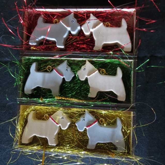 Hand Crafted Resin Scottie Tree Ornaments