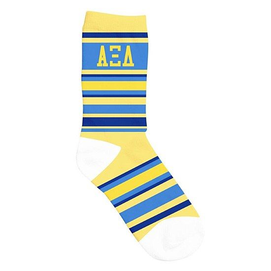 alpha xi delta axid sorority socks striped crew 1000 great greek gift