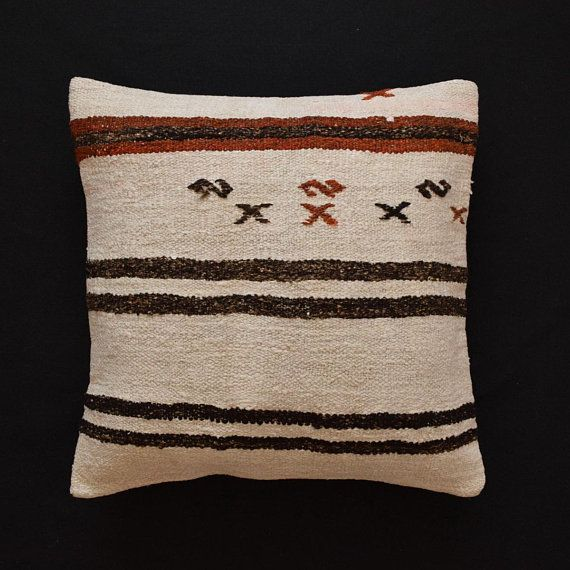 Kilim Pillow Hemp Pillows Rug Pillow Hemp Pillow Floor 26 X