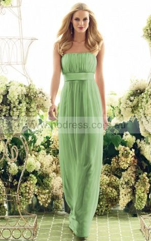 Sleeveless Zipper Strapless Floor-length Chiffon Formal Dresses b140409--Hodress