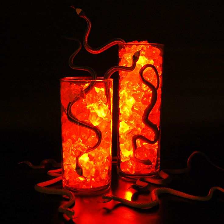 serving up delicious snake snacks for halloween submersible lights ice and rubber snakes