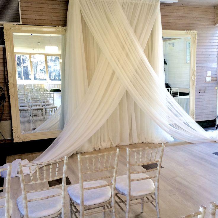 Norland Ballroom Wedding Ceremony  #lachefs #lachefsdecor #thenorland #norlandballroom #backdrop #mirrorbackdrop #mirrors #chiavari #ivory #ceremony #weddingceremony #wedding
