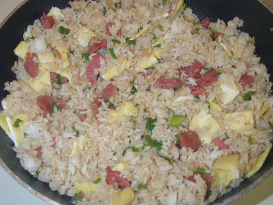 Ham Fried Rice Recipe - Food.com used bacon instead of ham. yum!