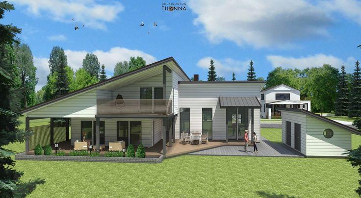 Uudiskohteen 3D-visualisointi, havainnekuva/ Teri-talot, moderna 220/ 3D-sisustus Tilanna