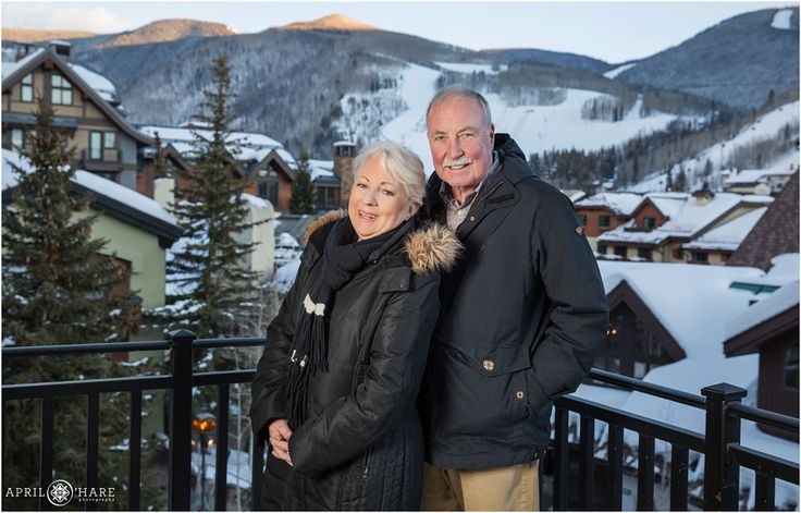 A beautiful view of Vail Colorado Ski slope mountains in the backdrop from the balcony at the Sebastian Hotel in Vail. - April O'Hare Photography http://www.apriloharephotography.com