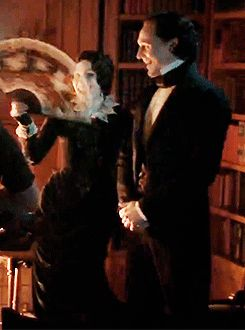 Crimson Peak - B roll - Lady Lucille's fan has butterflies in it, I can't even with this movie.