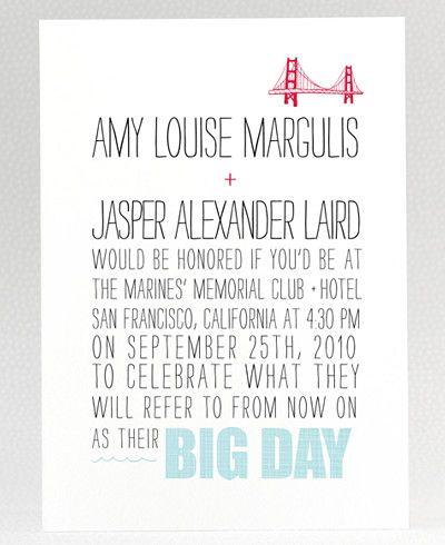 graphicHello Lucky, Cute Ideas, Brooklyn Bridges, Wedding Invitations, Fun Words, Mr. Big, Invitations Design, Invitations Inspiration, Big Day