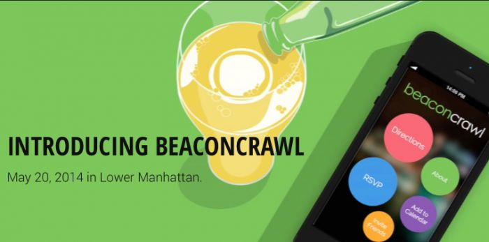 A few pubs in lower New York, recently installed beacons to allow crawlers to use the Beacon Crawl app to detect beacons, answer the challenges using the hints provided, and gain rewards such as special drinks, perks etc., along the way.