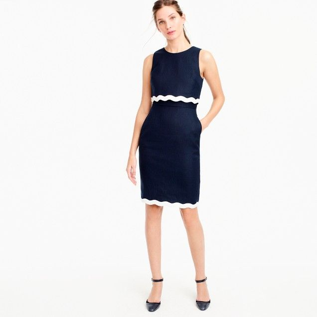 Going-places dress in linen // J.Crew