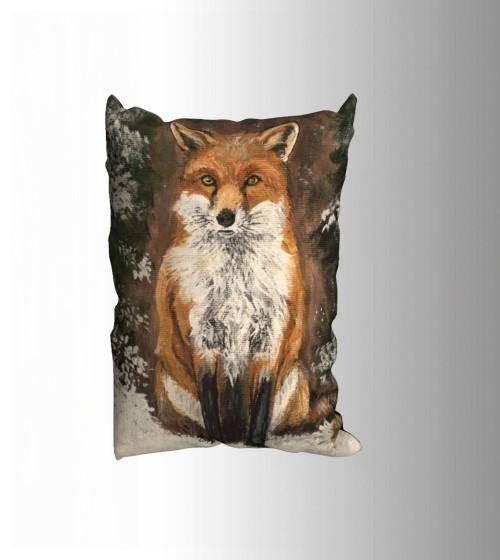 Red Fox Pillow Case 20 x 14  Decorative Pillow on