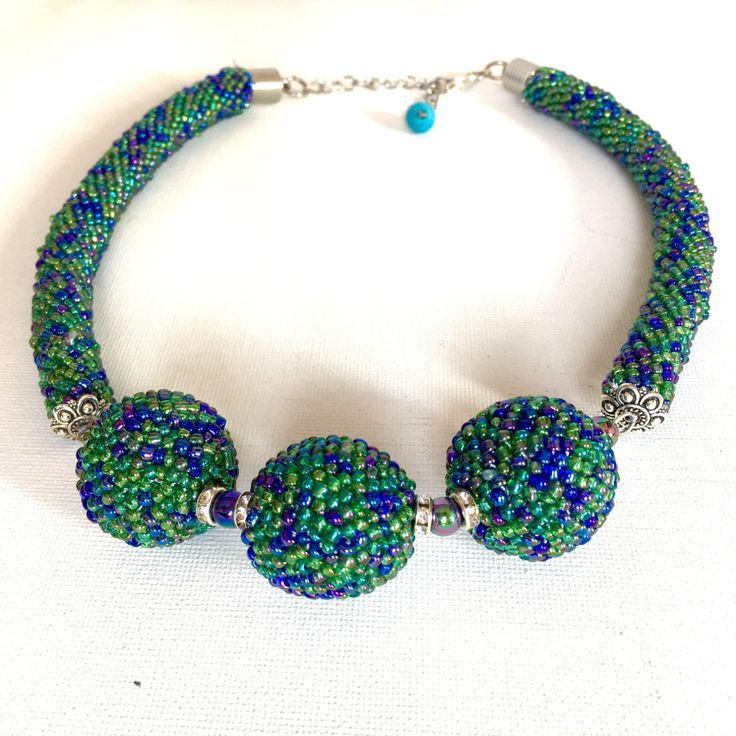 A personal favorite from my Etsy shop https://www.etsy.com/listing/493131900/handmade-crochet-necklace-crochet-bead