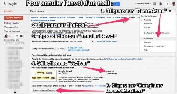 Enfin Une Astuce Pour Annuler l'Envoi d'un Mail (gmail).