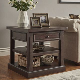 Shop for Jenson Espresso Wood 1-Drawer End Table by TRIBECCA HOME. Get free shipping at Overstock.com - Your Online Furniture Outlet Store! Get 5% in rewards with Club O!