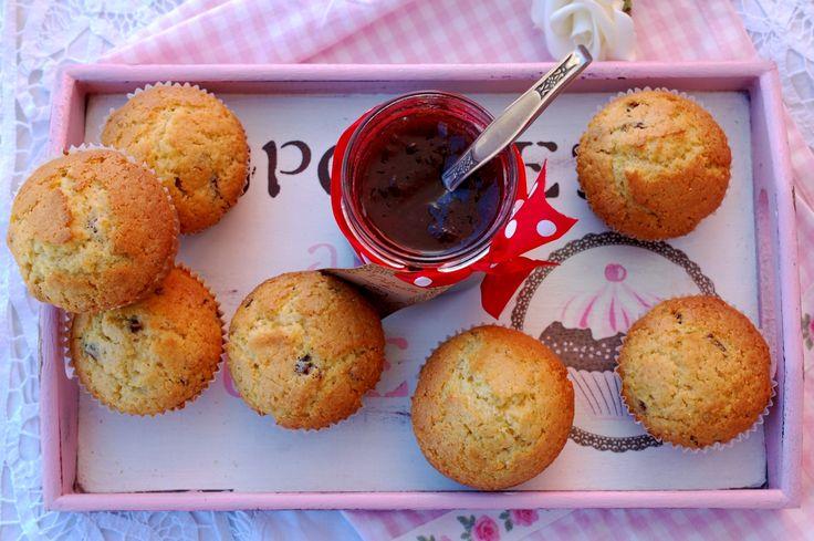 Muffins cu malai si merisoare