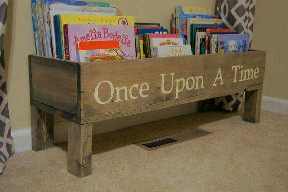 Darling idea for children's book storage ~ ❤