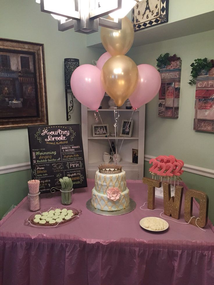 Glitter two table decor second birthday party 2 year for Room decor ideas paper