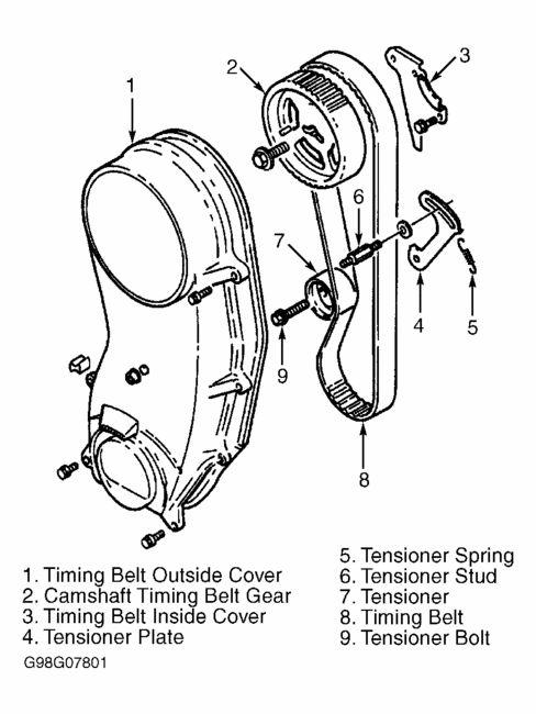 timing belt  tensioner exploded view | Samurai | Timing belt, Samurai, Diagram