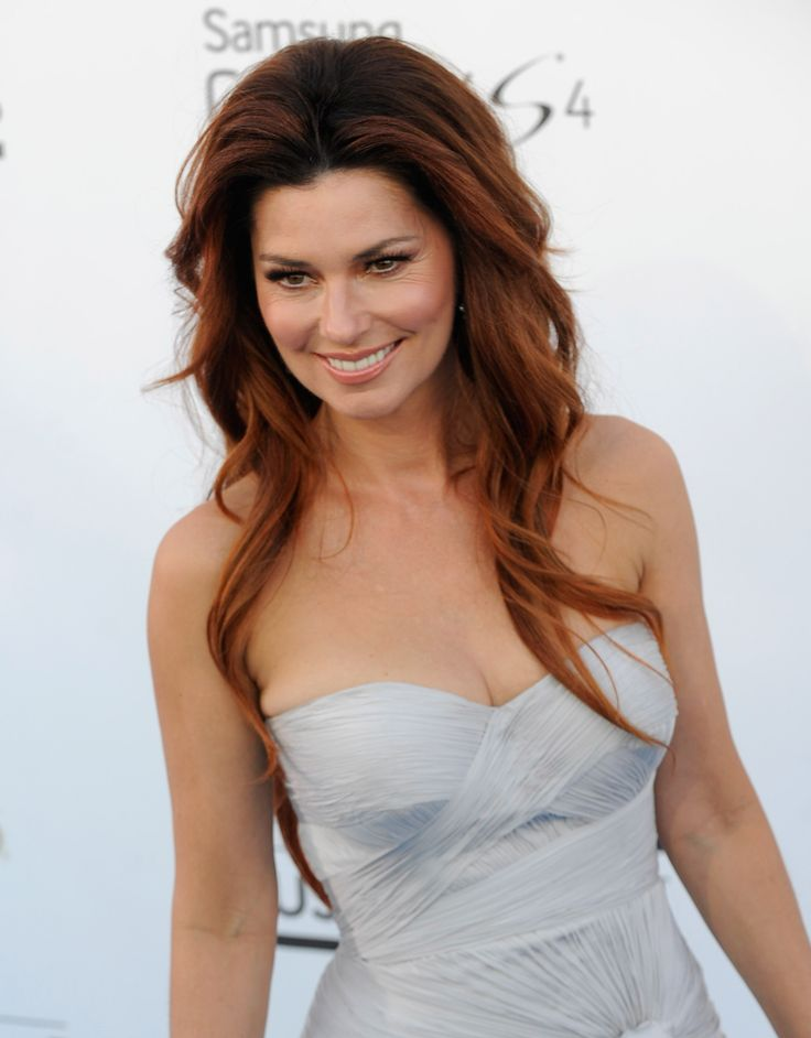 Shania Twain Awesome With Red Hair Red Hair Color