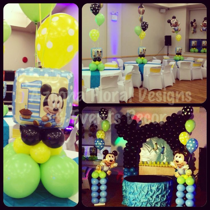 1000 images about balloons decor on pinterest balloon for Baby mickey mouse decoration