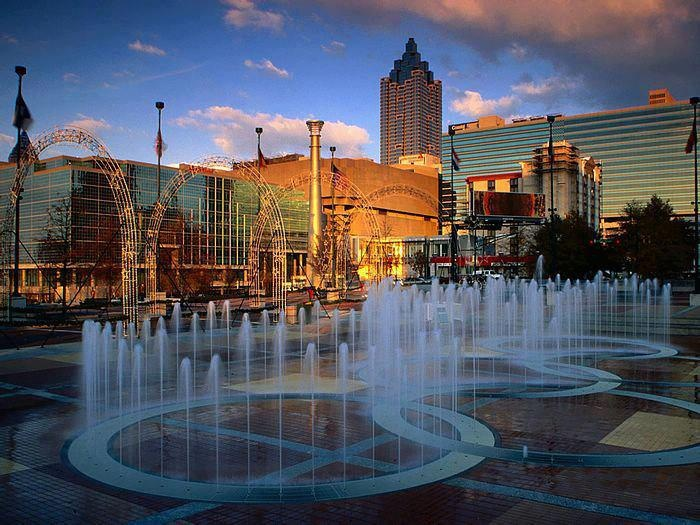 Centennial Park fountain - Atlanta, Georgia, US