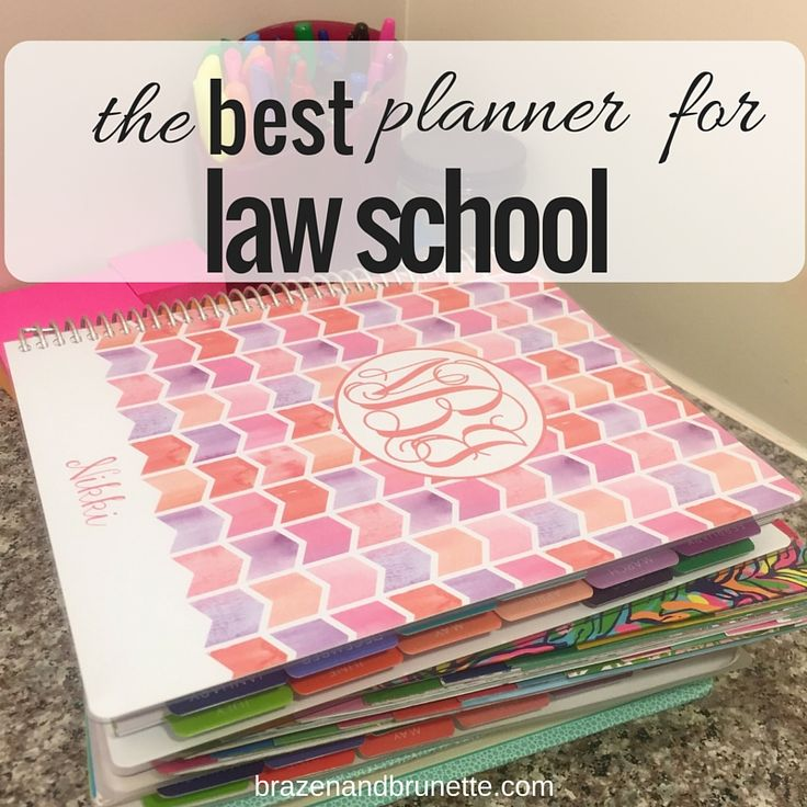 Today I'm reviewing and comparing Lilly Pulitzer, Kate Spade, Erin Condren, and Plum Paper to see which is the best law school planner | brazenandbrunette.com