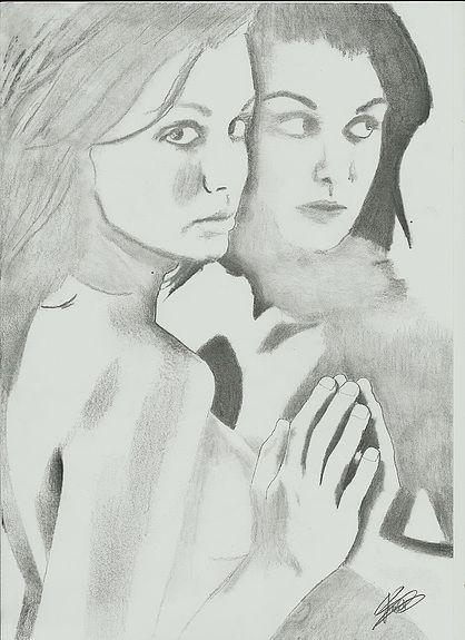 Le+reflet+-+dessin+au+crayon