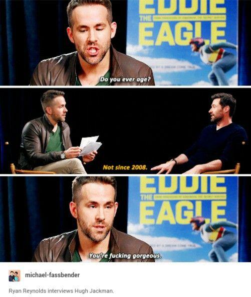 Ryan Reynolds + Hugh Jackman