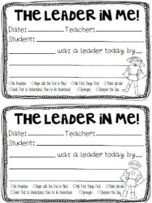 Free Leader In Me Recognition Forms (one boy and one girl form) by Jen Jones-Hello Literacy