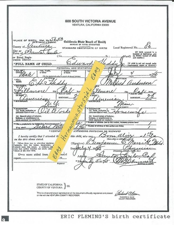 The 25 best birth certificate copy ideas on pinterest copy of copy of eric fleming s birth certificate ad article clipping edward heddy yelopaper Images