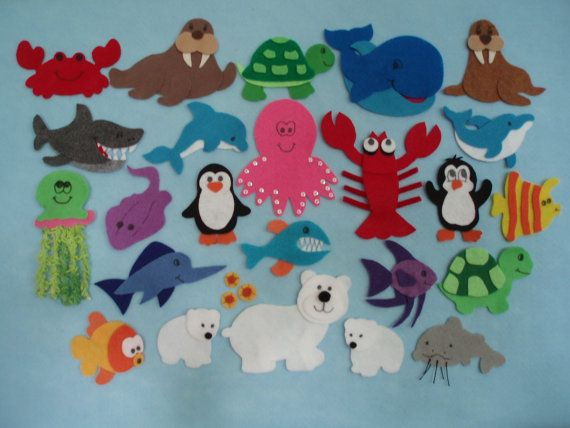 Commotion in the Ocean Felt Board Story by JillyPooCreations, $42.00 Everyone should buy these sets! They are very detailed and wonderful for retelling stories in a preschool classroom!
