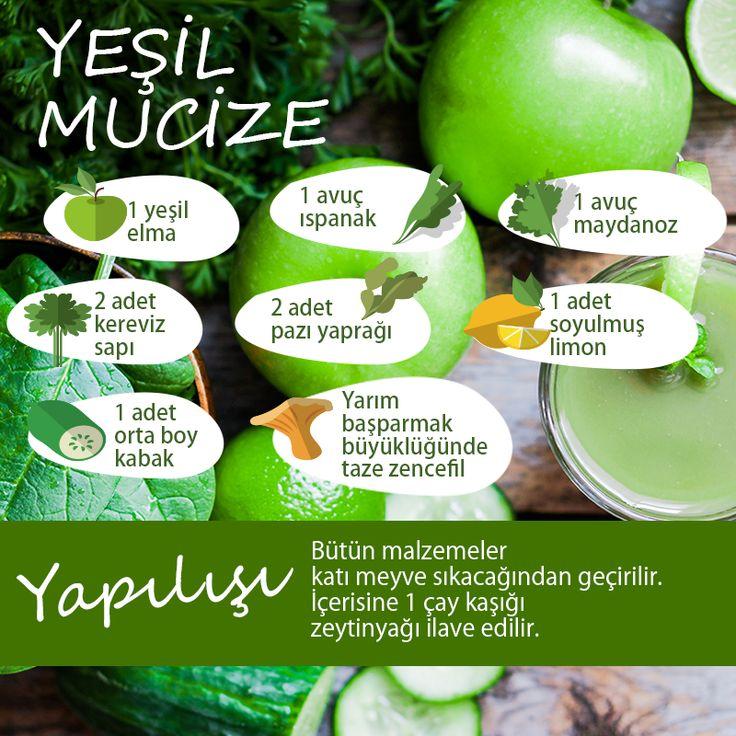 GÜNAYDIN! Güzel bir hafta sonuna ruhunuzu ve bedeninizi detoxla arındırarak başlamaya ne dersiniz? İşte #Esteworld'den harika bir #detox tarifi: Yeşil Mucize!  #Esteworld #detox #yesilmucize #elma #ıspanak #maydanoz #kereviz #pazı #limon #kabak #zencefil #saglikliyasam #healthyliving #healthy #freshfood #apple #green #spinach #parsley #celery #chard #lemon #lim #greensquash #ginger #healhtylife