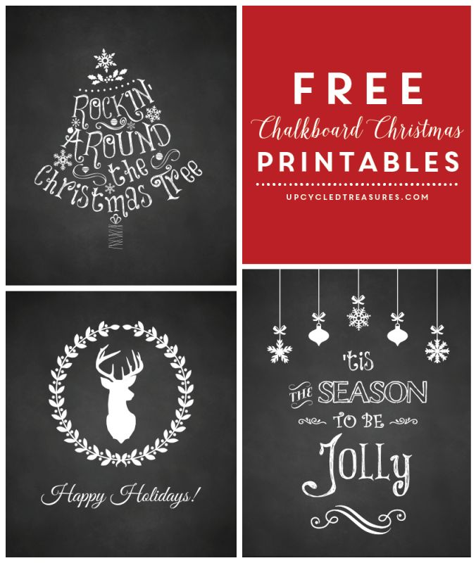 Are you looking for something to spice up your Christmas spirit? Check out these Free Christmas Printables! UpcycledTreasures.com