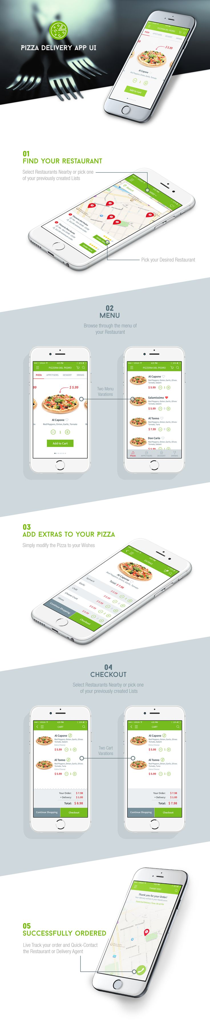 Pizza Delivery #app #ui #design