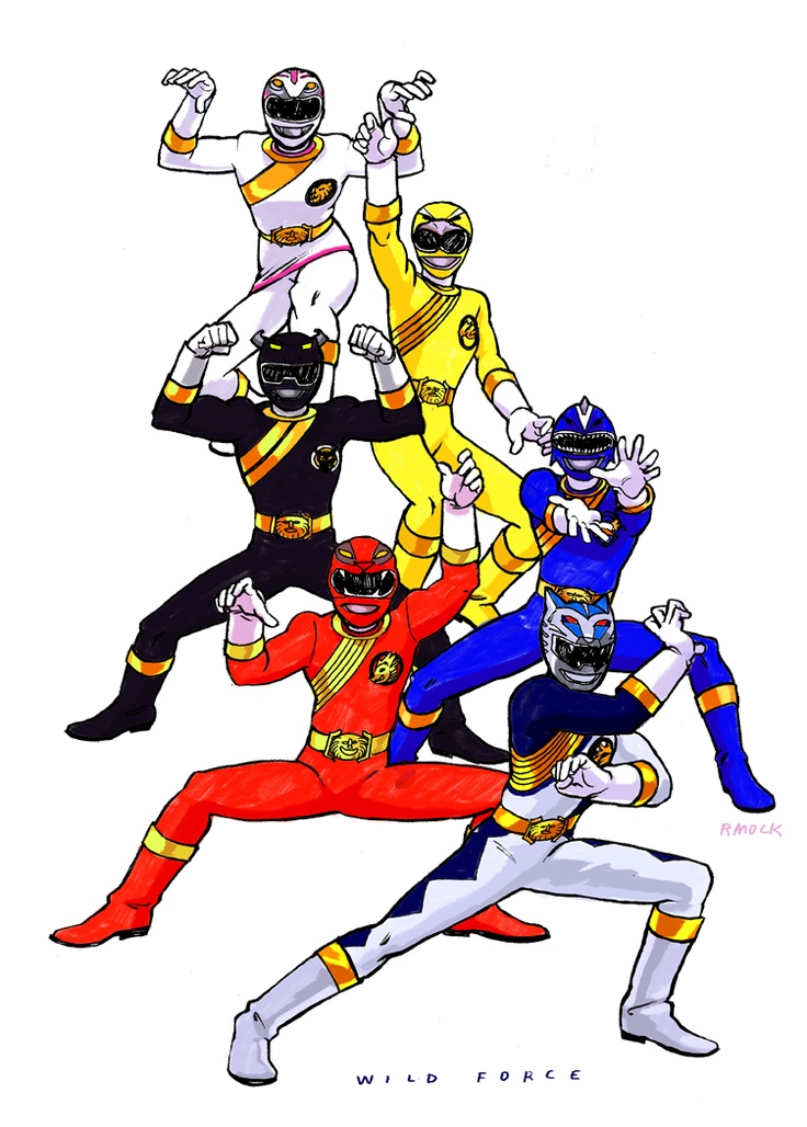09: POWER RANGERS WILD FORCE  The last series produced by Saban Entertainment (before Saban was bought up by Disney and production of Power Rangers was moved to New Zealand). It marked the 10th anniversary for Power Rangers and featured the epic team-up episode Forever Red, with all previous Red Rangers joining up in the most awesome roll call.  Their suits were wicked. reference: (x)