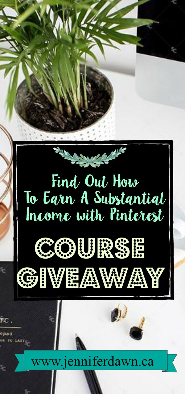 Want to know how I get paid to make pins on Pinterest and how you can too? This is the easiest and most passive way of earning income! Enter to win a FREE Course
