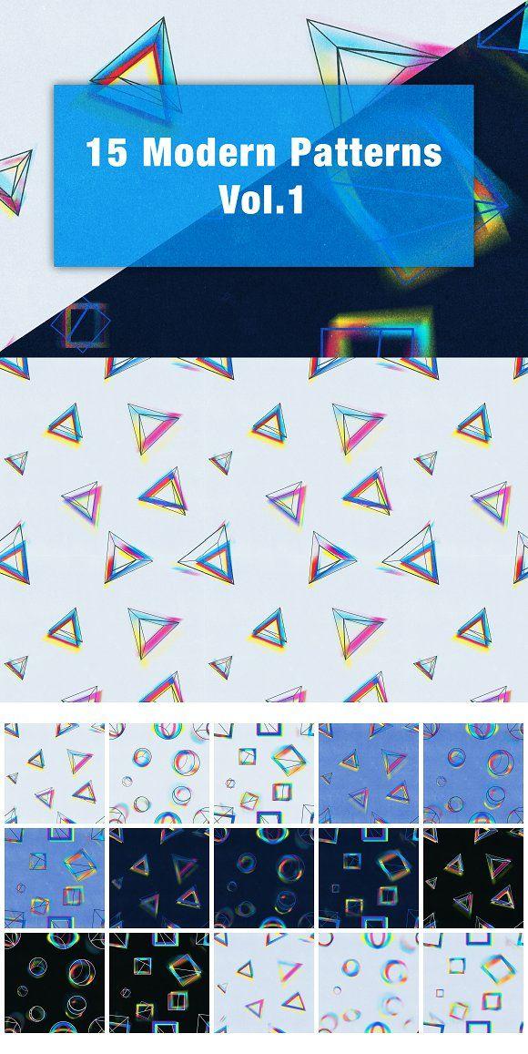 15 Modern Patterns Vol.1 by Perfect Design on @creativemarket