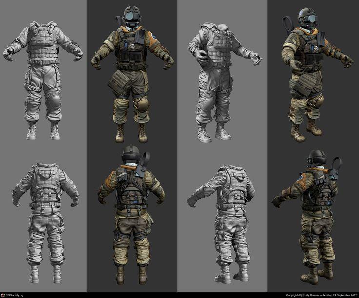 Killzone 3: ISA Infantry Base Body by Rudy Massar | 3D | CGSociety